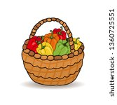 harvest of red  green  yellow... | Shutterstock .eps vector #1360725551