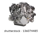 Powerful Car Engine Isolated O...