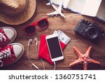travel accessories costumes.... | Shutterstock . vector #1360751741