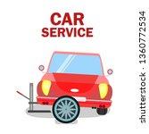 retro car tire replacement... | Shutterstock .eps vector #1360772534