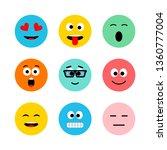 emoji icon  expression  smile ... | Shutterstock . vector #1360777004