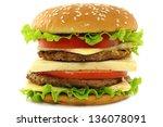 hamburger on white background | Shutterstock . vector #136078091