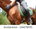 Clouse Up Of Woman Rider And...