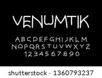 trendy font. minimalistic style ... | Shutterstock .eps vector #1360793237