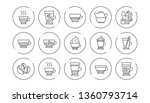 coffee types and tea icons.... | Shutterstock .eps vector #1360793714