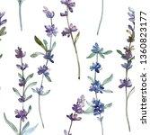 purple lavander floral...   Shutterstock . vector #1360823177