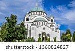 beautiful nice building. | Shutterstock . vector #1360824827