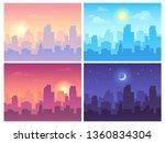 daytime cityscape. morning  day ... | Shutterstock . vector #1360834304