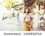 happy asian woman travel in...   Shutterstock . vector #1360836914
