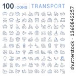 set of line icons  sign and... | Shutterstock . vector #1360842257