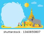 thingyan  burmese new year... | Shutterstock .eps vector #1360850807