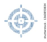 aim word cloud. tag cloud about ... | Shutterstock .eps vector #1360853834