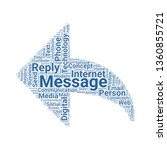 reply word cloud. tag cloud...   Shutterstock .eps vector #1360855721