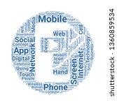 mobile app word cloud. tag...
