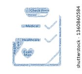 checkup word cloud. tag cloud...   Shutterstock .eps vector #1360860584