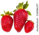 three fresh red garden...   Shutterstock . vector #136086197