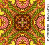 kaleidoscope geometric seamless ... | Shutterstock .eps vector #1360863497