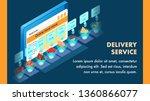 food ordering application...   Shutterstock .eps vector #1360866077