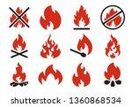 burn fire icon. burning flame... | Shutterstock .eps vector #1360868534