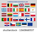 european union countries flags. ... | Shutterstock .eps vector #1360868537