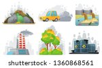 environmental pollution.... | Shutterstock .eps vector #1360868561