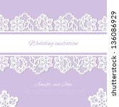 wedding invitation. lace... | Shutterstock .eps vector #136086929