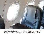 airplane window seat with... | Shutterstock . vector #1360876187