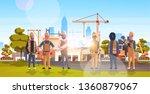 construction workers team... | Shutterstock .eps vector #1360879067