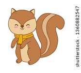 cute chipmunk woodland character | Shutterstock .eps vector #1360882547