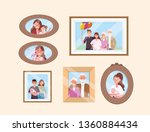 set happy family pictures... | Shutterstock .eps vector #1360884434