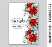 red anemone poppy wedding... | Shutterstock .eps vector #1360888721