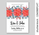 pink chrysanthemum wedding... | Shutterstock .eps vector #1360889147