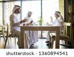 group of middle eastern men... | Shutterstock . vector #1360894541