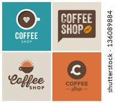 coffee shop illustration design ... | Shutterstock .eps vector #136089884