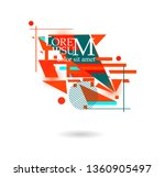 abstract elements for text.... | Shutterstock .eps vector #1360905497