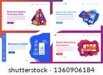 vector illustration set of... | Shutterstock .eps vector #1360906184