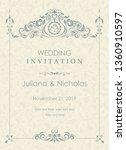 wedding invitation cards ...   Shutterstock .eps vector #1360910597