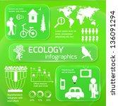 set of ecology infographics...   Shutterstock .eps vector #136091294