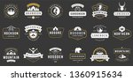 camping logos templates vector... | Shutterstock .eps vector #1360915634
