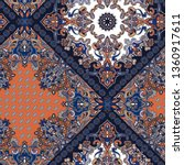Seamless Paisley Pattern With...