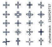 christian cross church icon set ... | Shutterstock .eps vector #1360929737