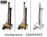 3D Oil Drill | EPS10 Vector