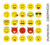 cartoon color emoticons sign... | Shutterstock .eps vector #1360944224
