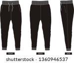 design vector template pants  | Shutterstock .eps vector #1360946537