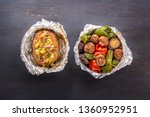 baked vegetables in foil  ...
