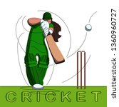 batswoman playing cricket.... | Shutterstock .eps vector #1360960727