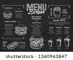 burger menu poster design on... | Shutterstock .eps vector #1360963847