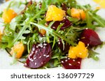 fresh salad with beets and... | Shutterstock . vector #136097729