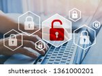 hacker attack and data breach ... | Shutterstock . vector #1361000201
