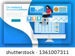 accounting firms provides data... | Shutterstock .eps vector #1361007311